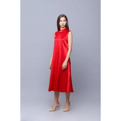 Modern Cheongsam Dress VEGA RED by Plopherz