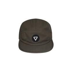 VIBES - OLIVE BASIC LOGO - 5 PANEL CAP