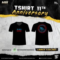 Tshirt Basket 11th Anniversary MSI - RISE and SHINE Black