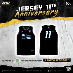 JERSEY BASKET ANNIVERSARY MSI 11TH - RISE AND SHINE BLACK