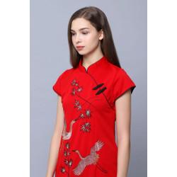 Classic Cheongsam Dress CORA EMBROIDERY by Plopherz