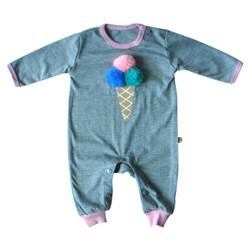 PLEU Kodok Jumper Ice Cream Cone - Jumpsuit/Babysuit Bayi Perempuan