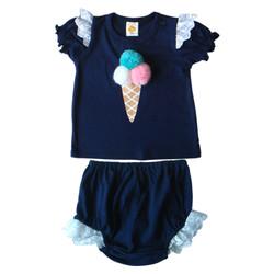 PLEU Setelan Ice Cream Cone - Setelan Baju Anak Bayi Perempuan