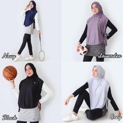 Rompi Vest Tie On Luaran Hijab Sport Olahraga Utk Basket Futsal Yoga