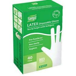 Latex Glove sensi isi 40 Promo