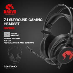 Headset Gaming Marvo HG9055 - 7.1 Surround 7 Color (RGB)