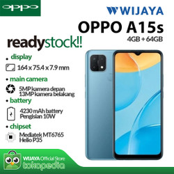 OPPO A15s Smartphone 4/64GB | Garansi Resmi