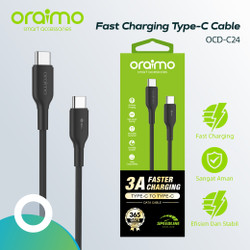 Oraimo Kabel Data Charger Fast Charging Type-C to Type-C Cable OCD-C24