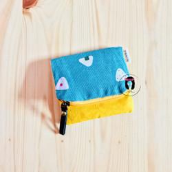Tosca Onigiri Linen Canvas Foldover Mini Coin Purse Dompet Koin Kanvas
