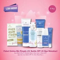 Paket Emina Ms Pimple UV Battle SPF 45 Bye Matahari