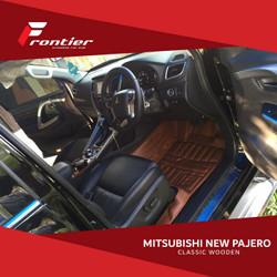 Karpet Mobil Fluxury Untuk Mitsubishi New Pajero Type Black Square