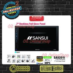 Sansui SA5201i Deckless Mp5 Autolink Sa-5201i Double din full glass