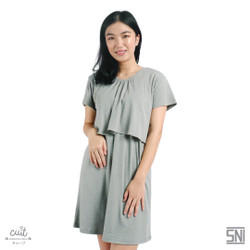 CUIT FAMILY Super Soft Organic Cotton Mizuno Midi Dress Hamil Menyusui