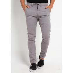 TRIPLE Celana Chinos Stretch Slim Fit Mid Light Grey (309 828 LGR)