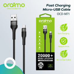 Oraimo Kabel Data Micro USB Android Cable Fast Charging OCD-M71