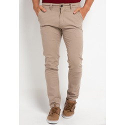 TRIPLE Celana Chinos Stretch Slim Fit Mid Light Khaki (308 828 LKH)