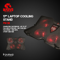 """Marvo Cooling Pad FN-38 - 17"""" Laptop Cooling Stand"""