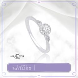 Cincin Emas Batu Berlian Athira Solitaire Ring Diamond Pavilion