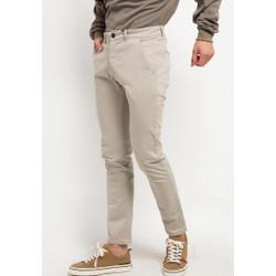 TRIPLE Celana Chinos Stretch Slim Fit Light Khaki (313 828 LKH)