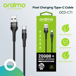 Oraimo Kabel Data Type-C Android USB Cable Fast Charging OCD-C71