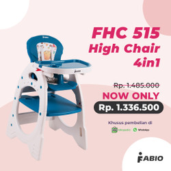 High Chair 4in1 Fabio FHC 515 - Kursi Makan Anak Serbaguna, 4 Fungsi