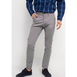TRIPLE Celana Chinos Stretch Slim Fit Grey (313 828 LGR)