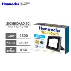 Hannochs LED Flood Light Signboard 30 watt CDL - Putih