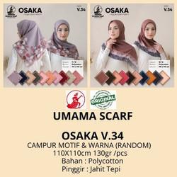 Jilbab Segiempat Motif OSAKA by Umama Scarf RANDOM Warna dan Motif