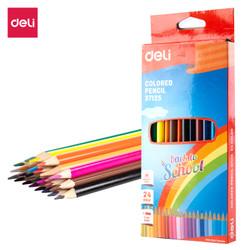 Deli Colored Pencsil / Pensil Warna 24 Warna bentuk Segitiga E37125