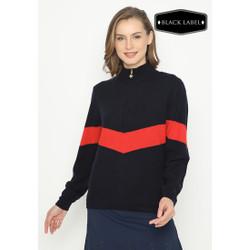 Jack Nicklaus Raffles Premium Outerwear Wanita Slim Fit Navy