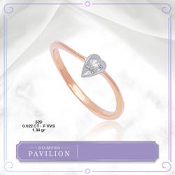 Cincin Emas Batu Berlian Laurence Diamond Pavilion