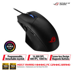 ASUS ROG Chakram Core Gaming Mouse with Programmable Joystick