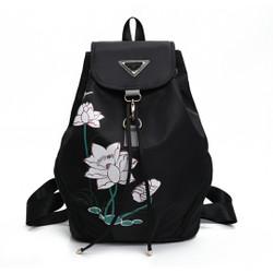 London Berry by HUER Egina Printed Backpack 9534-034Black