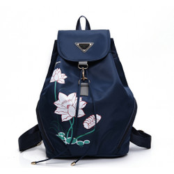 London Berry by HUER Egina Printed Backpack 9534-034Navy
