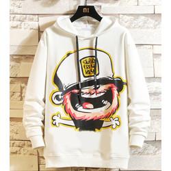 FortKlass STUPID Sweater Hoodie Pria Sablon Lengan Panjang