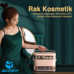 Rak kosmetik dengan cermin LED-2102/ Rak makeup / Kotak make up