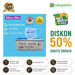 MASKER 3PLY MEDIS MODEL SENSI DAILY PROTECTIVE MASK 95% ANTI DROPLET
