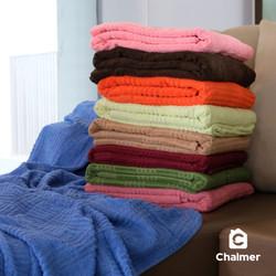 Selimut Katun Merek Chalmer Ukuran 145x200 Terry Cloth Towel Blanket