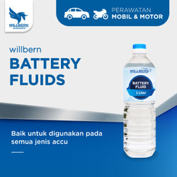 Battery Fluid Willbern / Willbern Air Accu Biru / Air Isi Aki