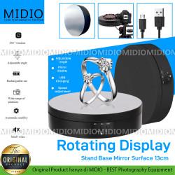 Midio Alas Putar Rotating Display Fotografi Stand Base Mirror 13 cm