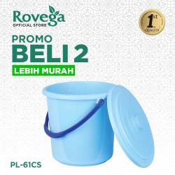 2in1Rovega Ember plastik / Metro Solid Pail 22 Liter Dengan tutup PL61