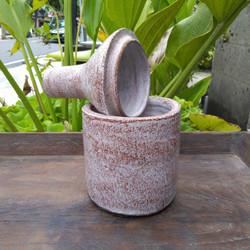 Botol dekorasi Terracota Boling tempat perhiasan