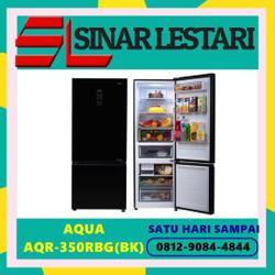 AQUA AQR-350RBG(BK) AQR-350RBG KULKAS 2 PINTU FREEZER BAWAH KAP 324L