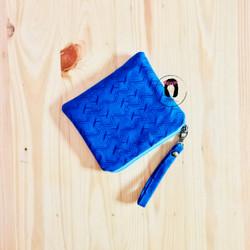 Royal Blue Hammer Canvas Mini Coin Purse Dompet Koin Dompet Kartu