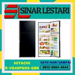 HITACHI R-VG48PGD8-GBK R-VG48PGD8 KULKAS 2 PINTU INVENTER KAP 470 L