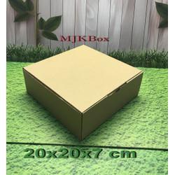 Kardus karton uk. 20x20x7 cm...die cut box kotak Souvenir -dll