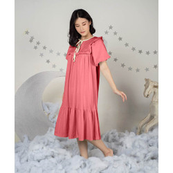 Takoyakids X Margenie Yoona Puff Sleeves Dress Adult Blush Red