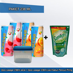 SUPER HEMAT SERU! Paket 4pcs Lasegar 238ml