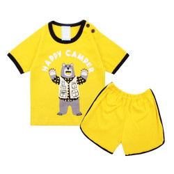Wakakids Baju Oblong Bayi Anak Laki Setelan Celana Muniko Bear 3504