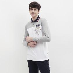 Emba Classic-Ciro T-shirt Polo Pria Lengan panjang Warna Putih